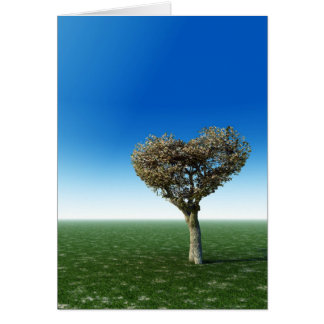Heart Shape Tree Card