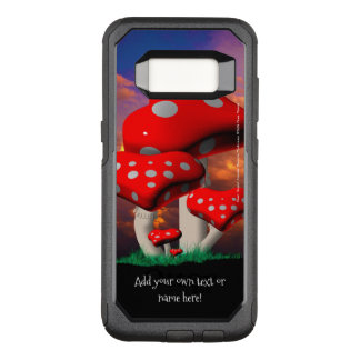 Heart Shaped Amanita Muscaria Mushrooms OtterBox Commuter Samsung Galaxy S8 Case