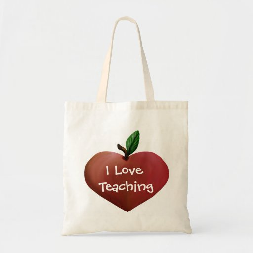 Heart Shaped Apple Teacher's tote bag