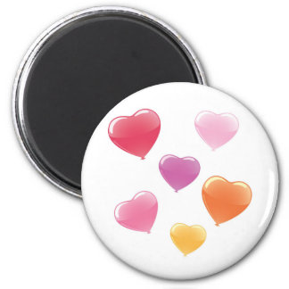 Heart Shaped Balloons Magnet