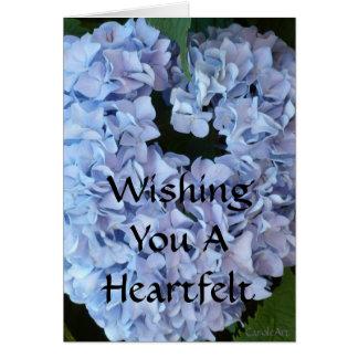 Heart-Shaped Blue Hydrangea Card