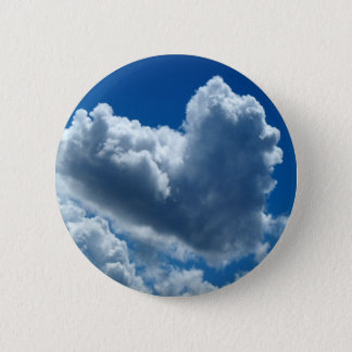 Heart-Shaped Cloud 2 Inch Round Button