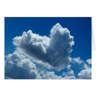 Heart-Shaped Cloud Card