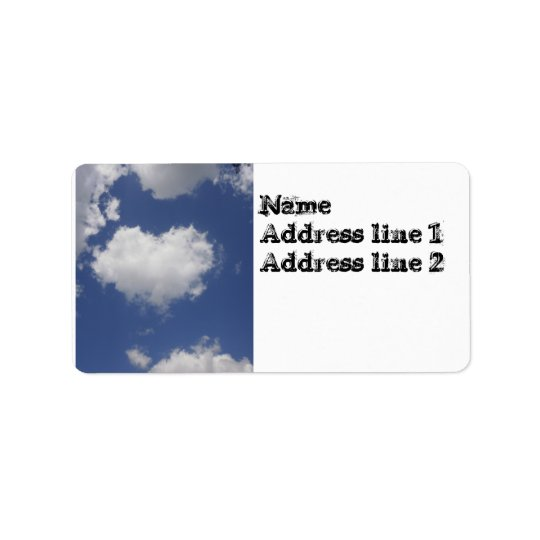 Heart Shaped Cloud Label