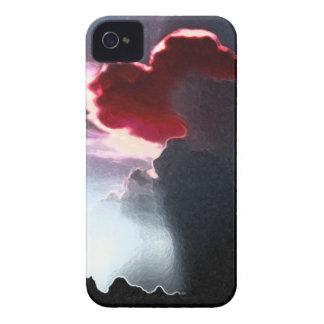 Heart-Shaped Cloudburst RED Blackberry Bold Case