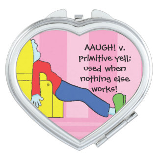 "Heart Shaped Compact Mirror ""Primitive Yell"""