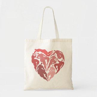 Heart Shaped Dancers Tote Bag