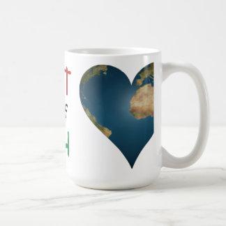 Heart Shaped Earth anagram Coffee Mug