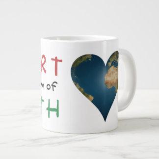 Heart Shaped Earth anagram Heart Large Coffee Mug