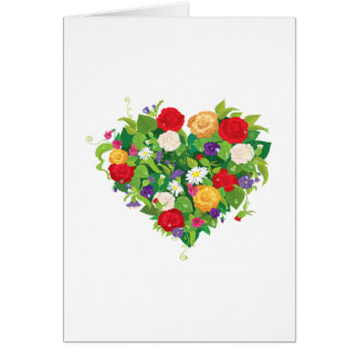 Heart Shaped Flowers Card