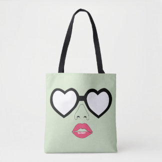 Heart shaped glasses All-Over-Print Tote Bag