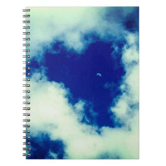 Heart Shaped Hole Spiral Notebook