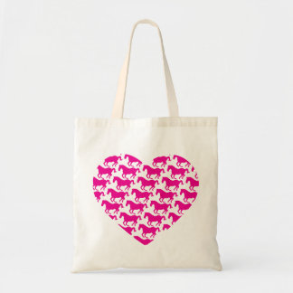 Heart Shaped Horse Pattern Tote Bag