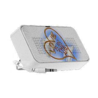 """Heart Shaped """"Love Is In The Air"""" Notebook Speaker"""