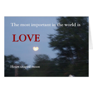 heart shaped moon greeting card