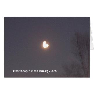 Heart Shaped Moon greeting crad Greeting Card