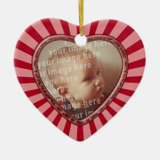 Heart Shaped Photo Frame Ceramic Heart Ornament