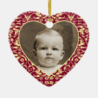 Heart Shaped Photo Frame Floral Ceramic Heart Ornament