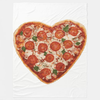 heart shaped pizza blanket