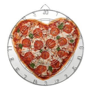 heart shaped pizza dartboard