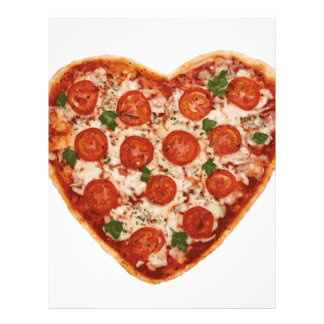 heart shaped pizza letterhead