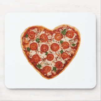 heart shaped pizza mouse pad