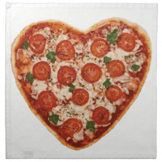 heart shaped pizza napkin