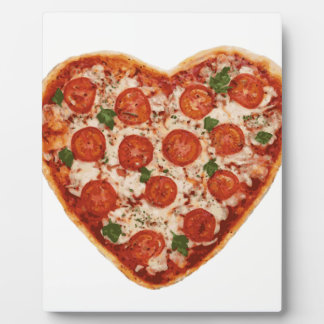 heart shaped pizza plaque