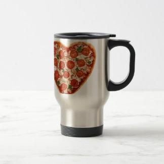 heart shaped pizza travel mug