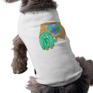 Heart Shaped Planet Earth Doggie Tee Shirt
