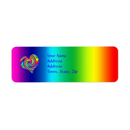 Heart Shaped Rainbow Twirl