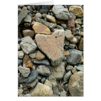 Heart Shaped Rock Card