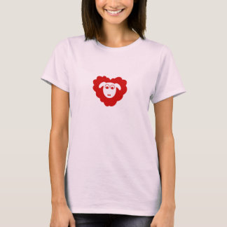 Heart shaped sheep T-Shirt