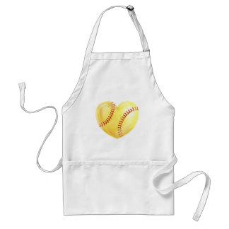Heart Shaped Softball Standard Apron