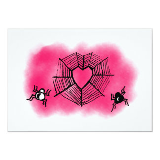 Heart-shaped spiderweb card