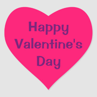 Heart Shaped Sticker - Happy Valentine's Day.