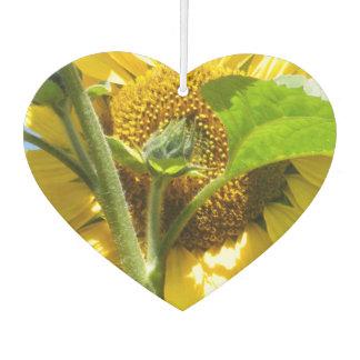 Heart Shaped Sunflower Car Air Freshener
