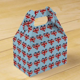 Heart Shaped Union Jack Flag Favor Box