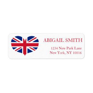 Heart Shaped United Kingdom Flag / Union Jack