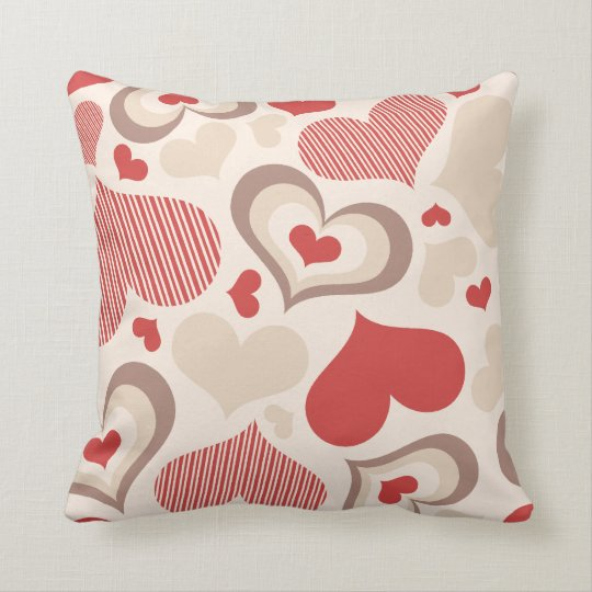 Heart Shapes American Mojo Pillow