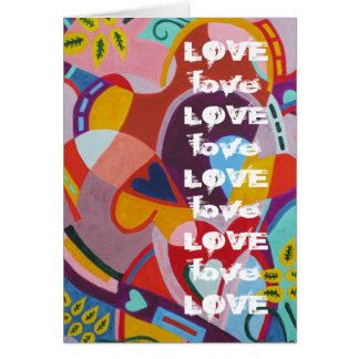 Heart Shapes and Love Card