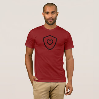 Heart Shield on Cranberry T-Shirt