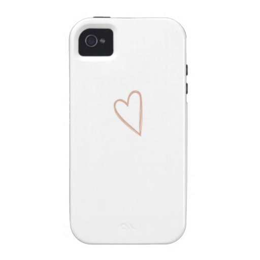 Heart Sketch iPhone 4 Cases