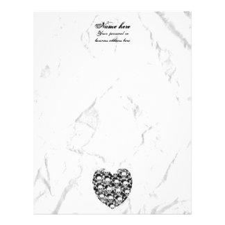 Heart skull with crossbones letterhead
