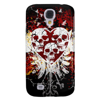 Heart Skulls iphone 3G or 3GS Hard Case Galaxy S4 Cover