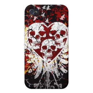 Heart Skulls iphone 4 Hard Case iPhone 4 Case