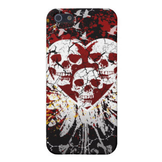 Heart Skulls iphone 4 Hard Case iPhone 5 Cases