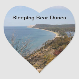 Heart Sleeping Bear Dunes Stickers