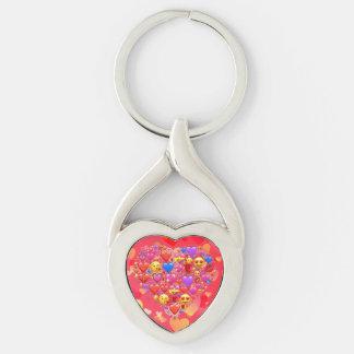 Heart smiley keychain
