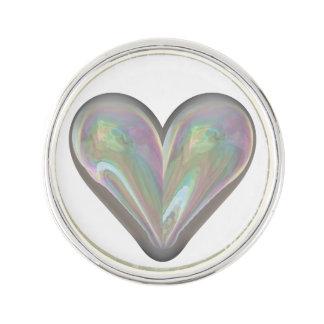 heart soap bubble lapel pin